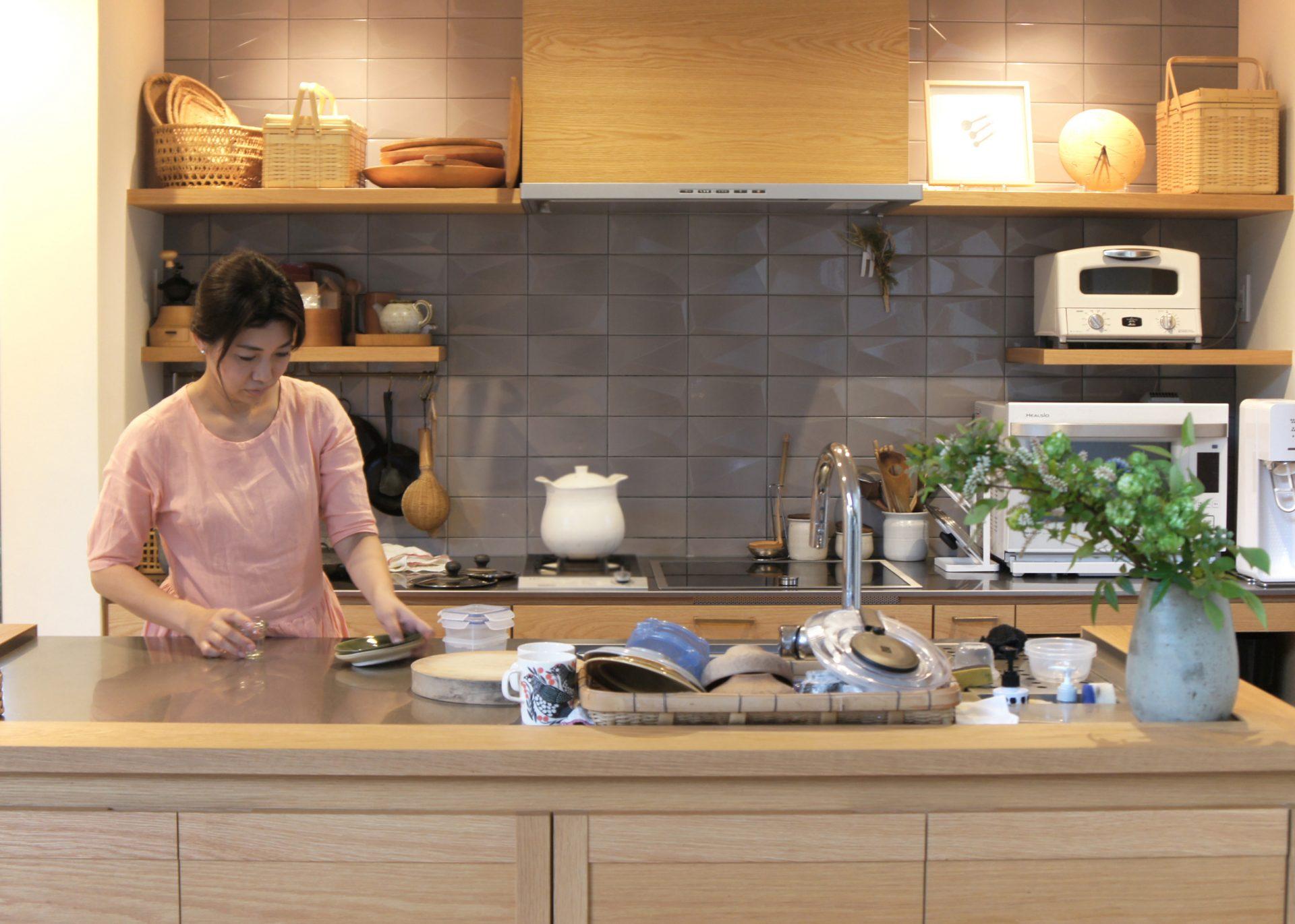 新築におけるⅡ型キッチン